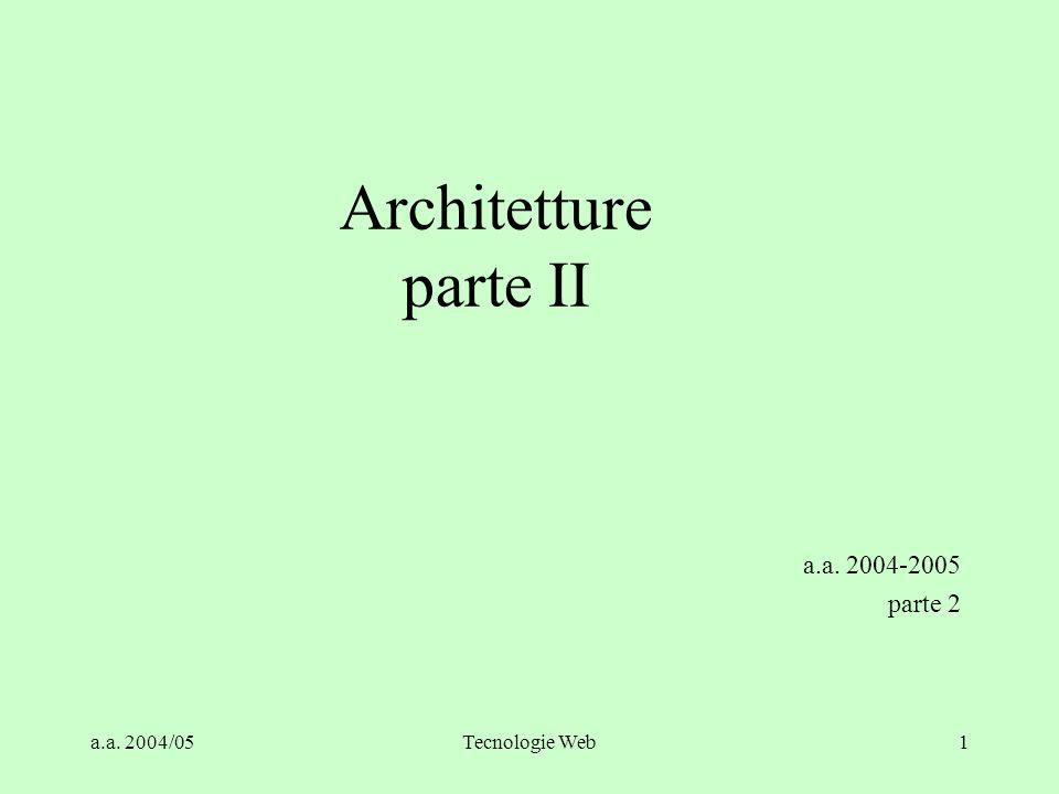 Architetture parte II a.a. 2004-2005 parte 2 a.a. 2004/05
