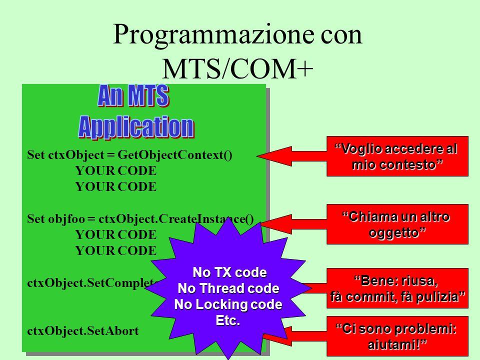 Programmazione con MTS/COM+