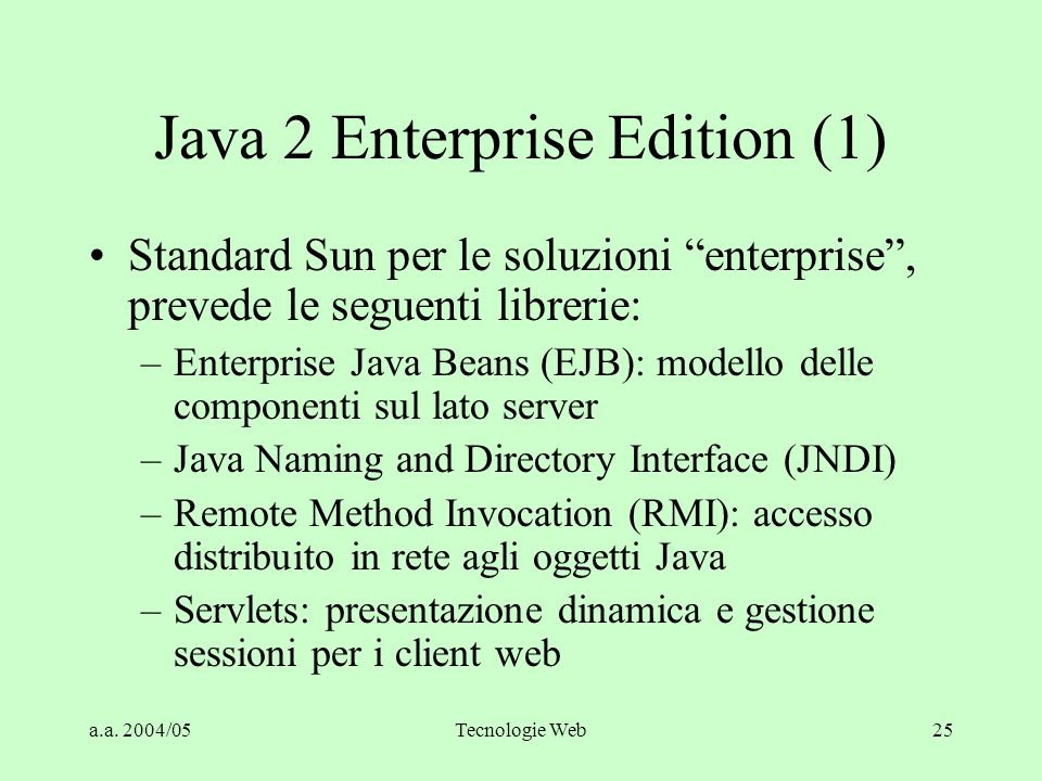 Java 2 Enterprise Edition (1)