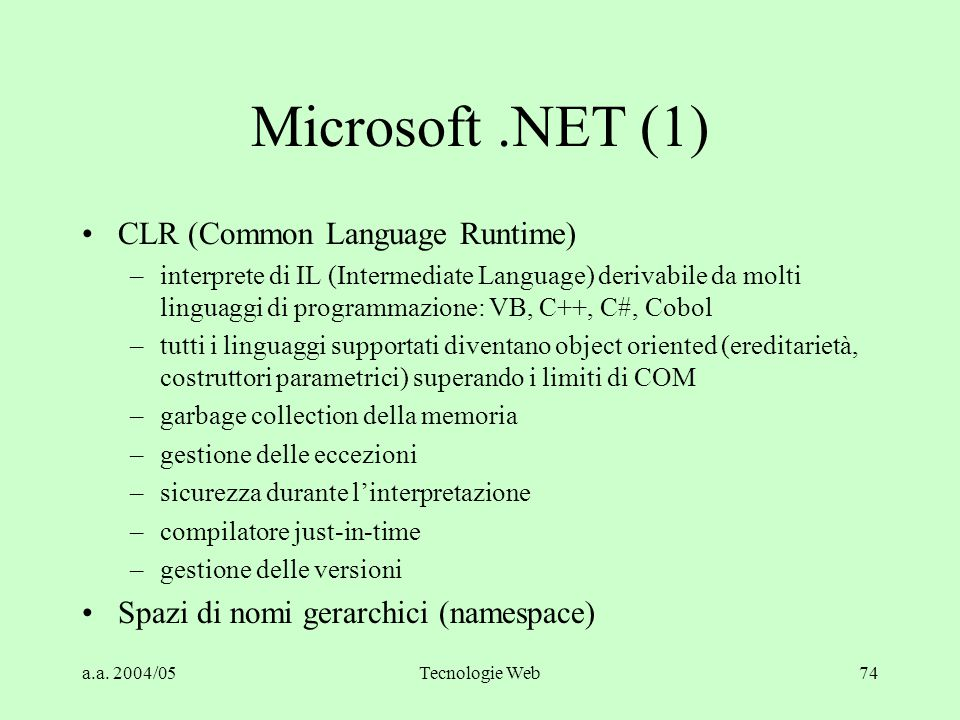 Microsoft .NET (1) CLR (Common Language Runtime)