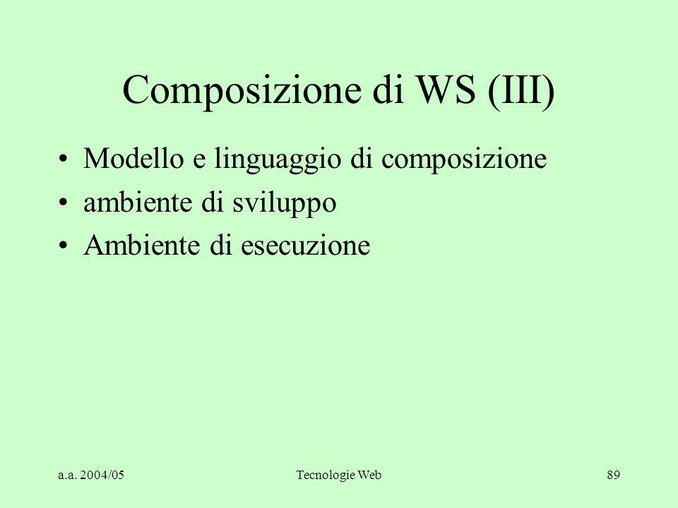 Composizione di WS (III)