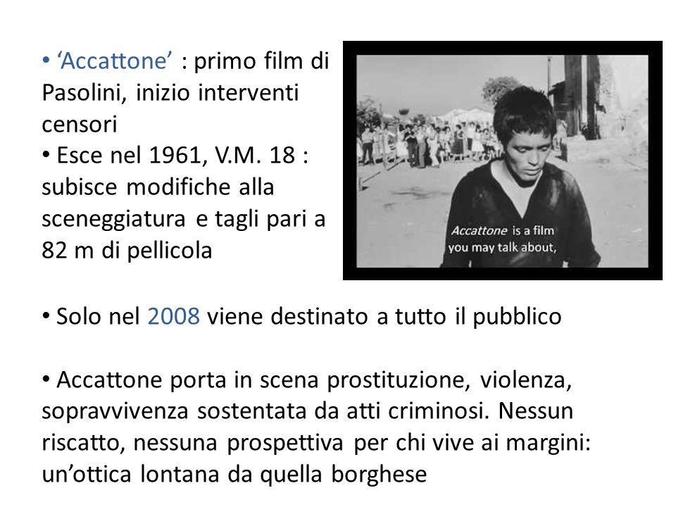'Accattone' : primo film di Pasolini, inizio interventi censori