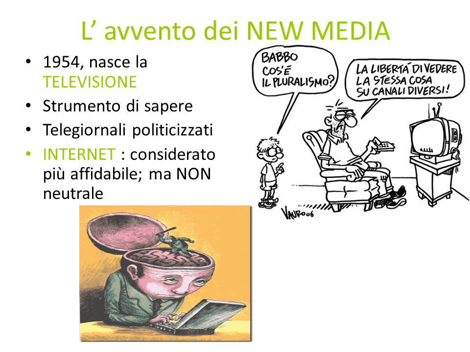 L' avvento dei NEW MEDIA