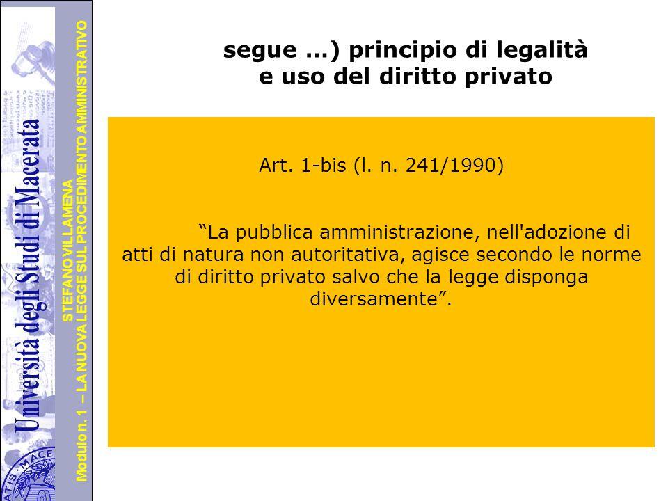 segue …) principio di legalità e uso del diritto privato