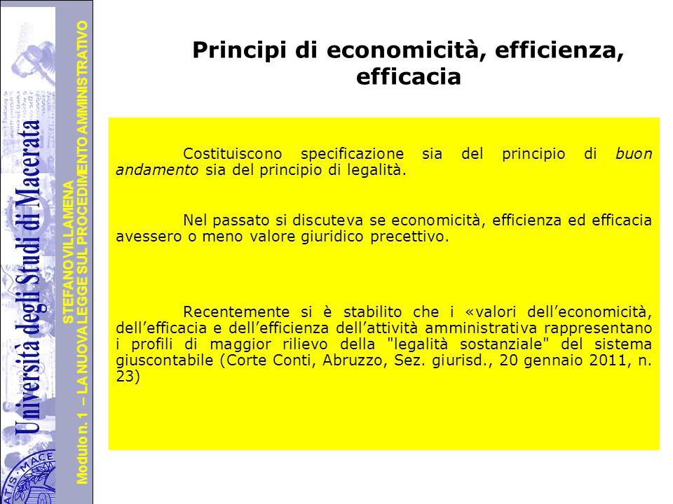 Principi di economicità, efficienza, efficacia