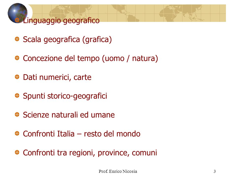Linguaggio geografico Scala geografica (grafica)