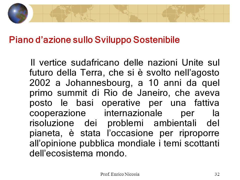 Piano d'azione sullo Sviluppo Sostenibile