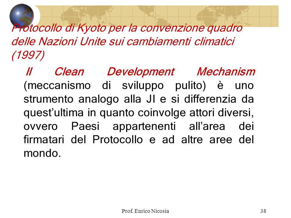Protocollo di Kyoto per la convenzione quadro delle Nazioni Unite sui cambiamenti climatici (1997)