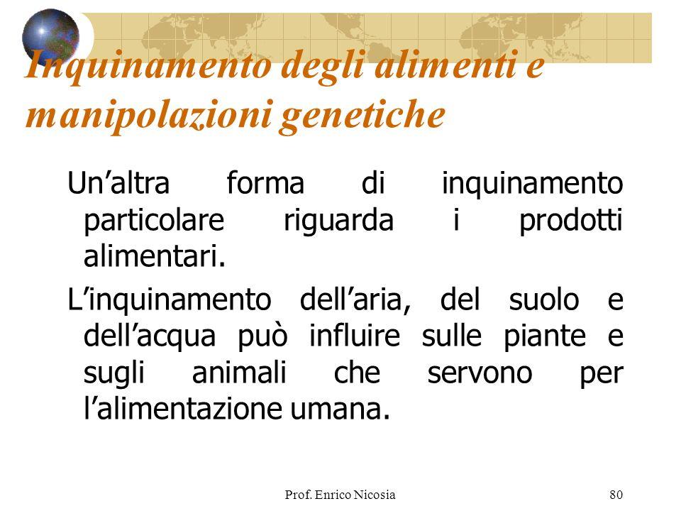 Inquinamento degli alimenti e manipolazioni genetiche