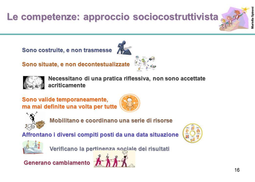 Le competenze: approccio sociocostruttivista
