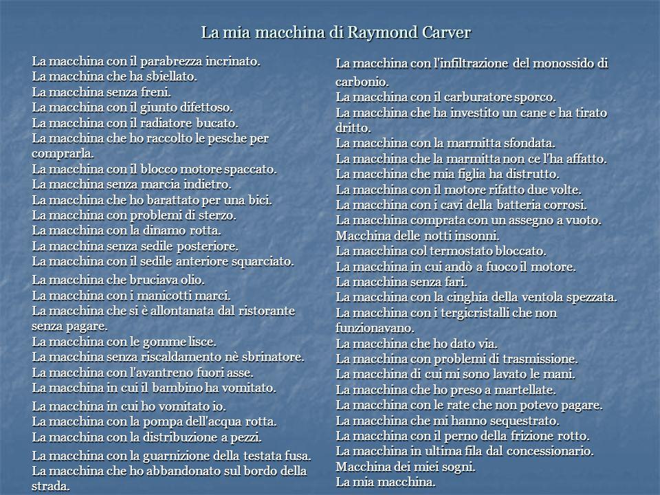 La mia macchina di Raymond Carver