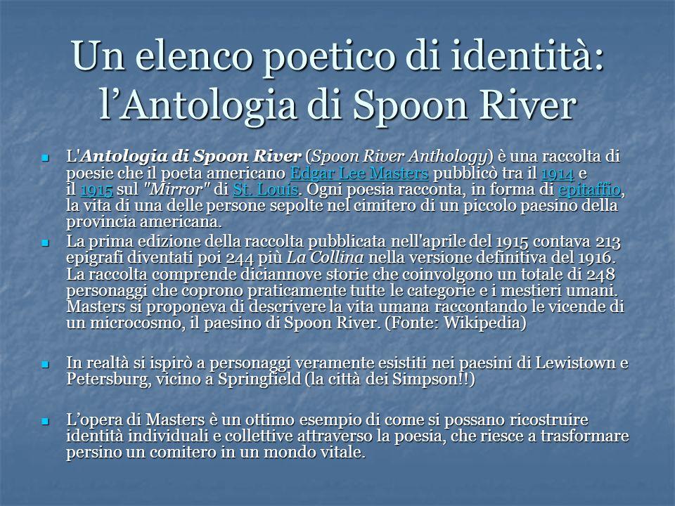 Un elenco poetico di identità: l'Antologia di Spoon River