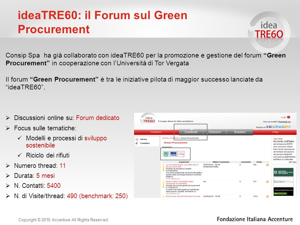 ideaTRE60: il Forum sul Green Procurement