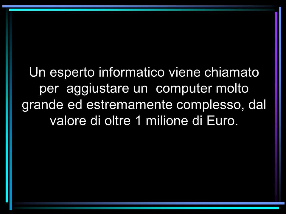 Un esperto informatico viene chiamato per aggiustare un computer molto grande ed estremamente complesso, dal valore di oltre 1 milione di Euro.