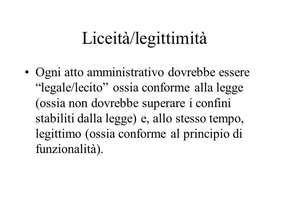 Liceità/legittimità