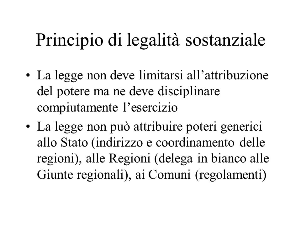 Principio di legalità sostanziale