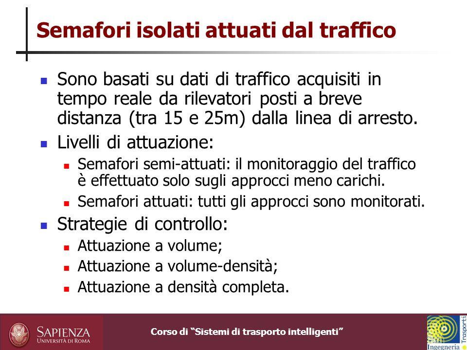 Semafori isolati attuati dal traffico