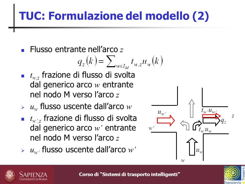TUC: Formulazione del modello (2)