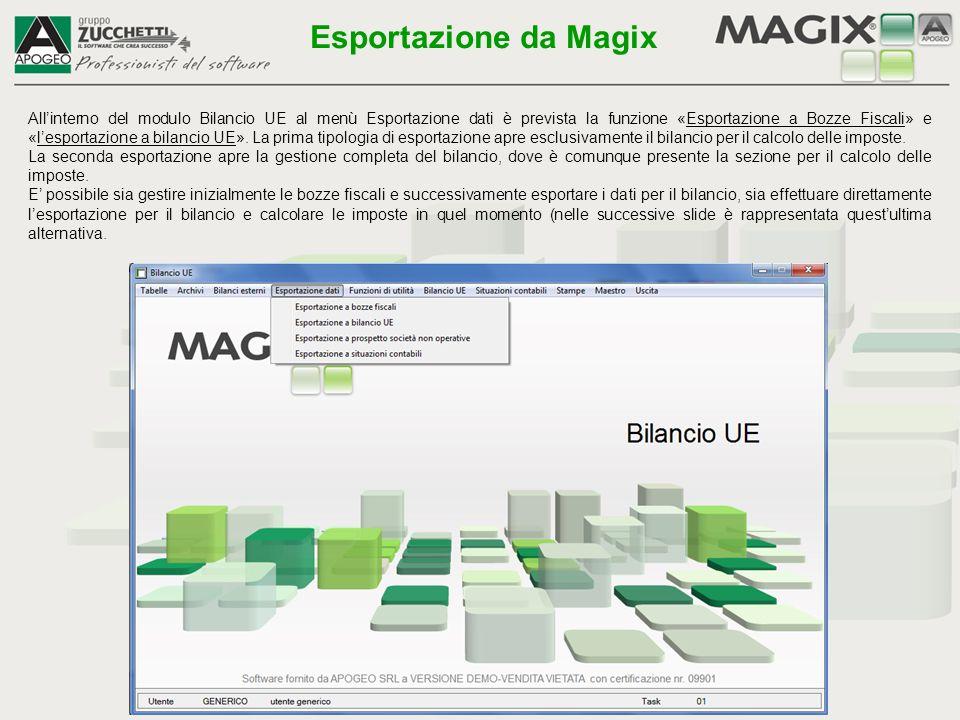 Esportazione da Magix