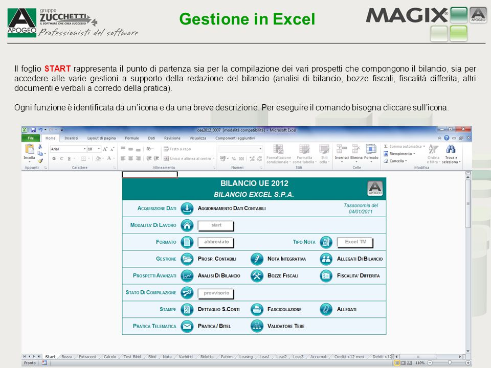 Gestione in Excel
