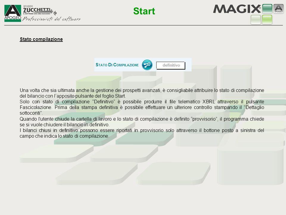 Start Stato compilazione