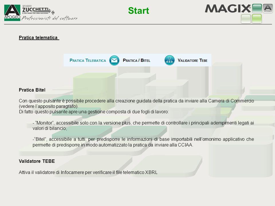 Start Pratica telematica Pratica Bitel