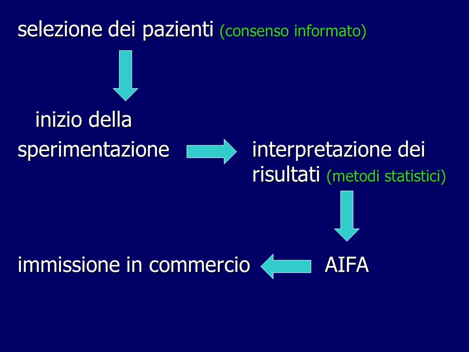 selezione dei pazienti (consenso informato)