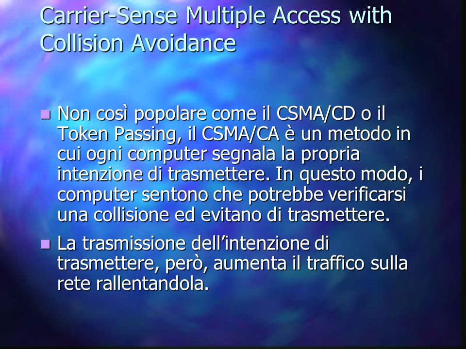 Carrier-Sense Multiple Access with Collision Avoidance