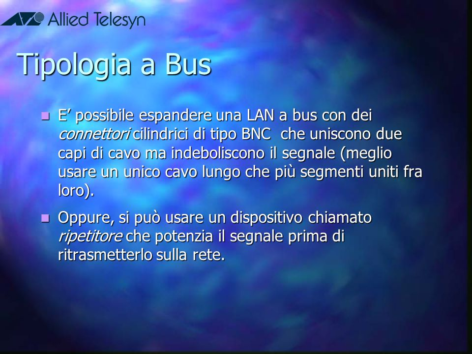 Tipologia a Bus