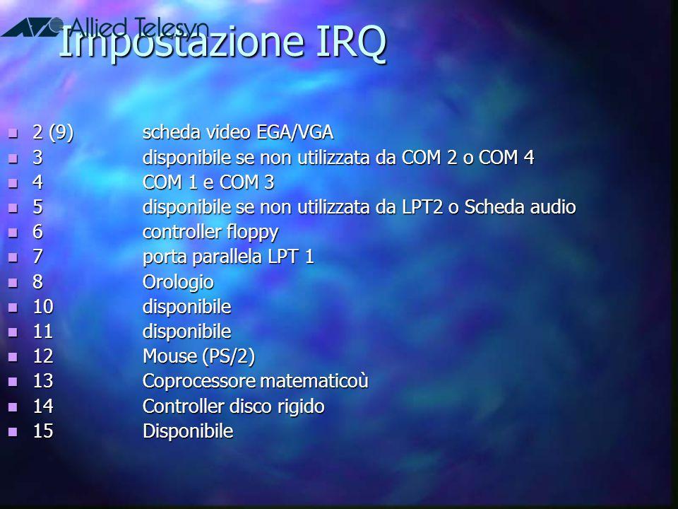 Impostazione IRQ 2 (9) scheda video EGA/VGA