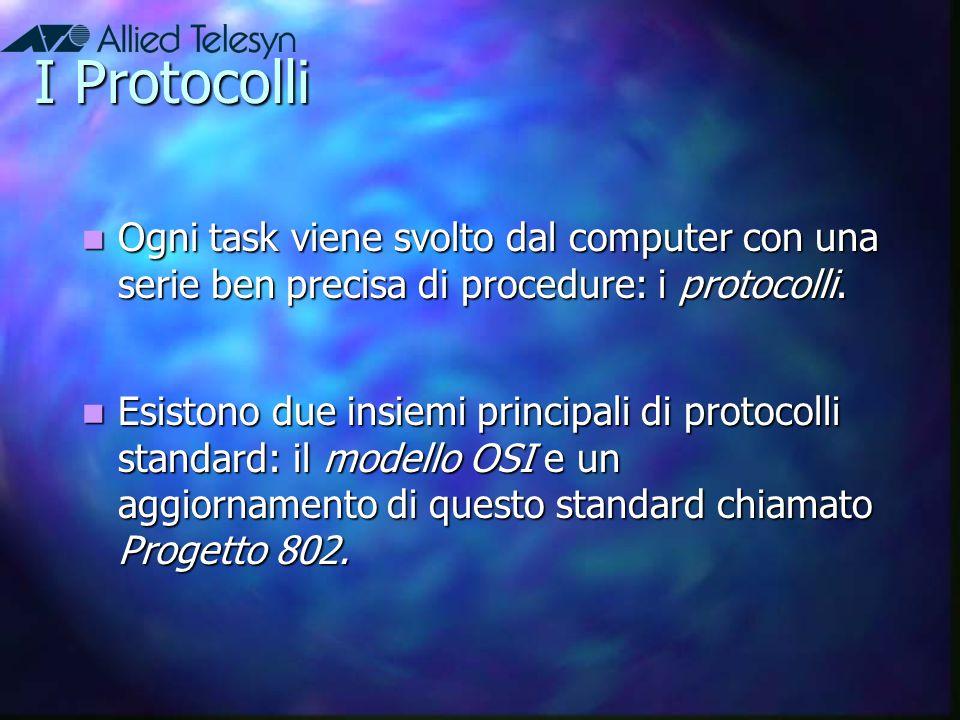 I Protocolli Ogni task viene svolto dal computer con una serie ben precisa di procedure: i protocolli.