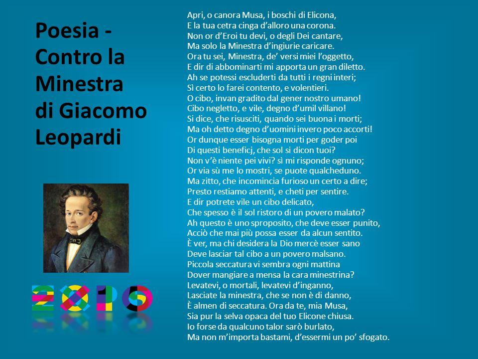 Poesia - Contro la Minestra di Giacomo Leopardi