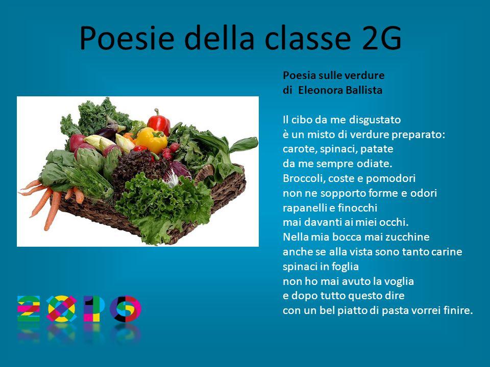 Poesie della classe 2G Poesia sulle verdure di Eleonora Ballista