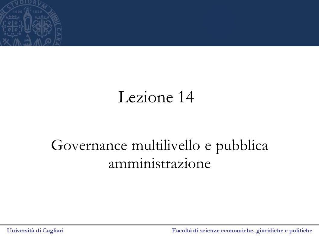 Governance multilivello e pubblica amministrazione