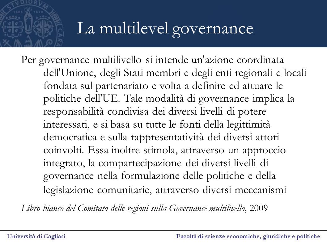 La multilevel governance