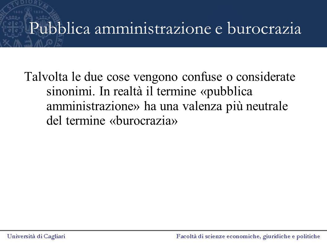 Pubblica amministrazione e burocrazia