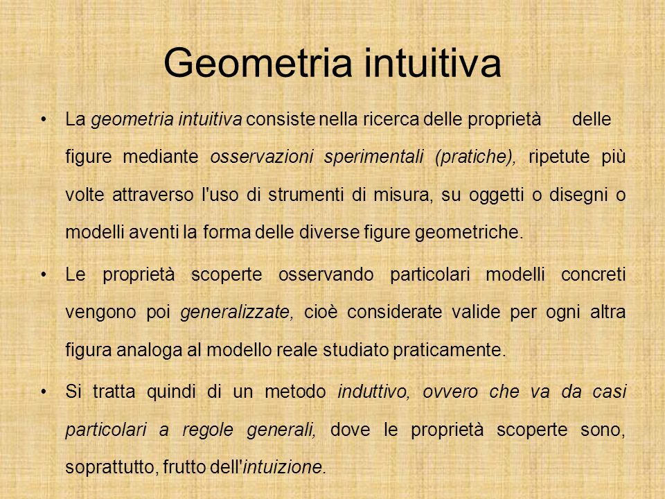 Geometria intuitiva