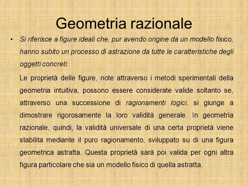 Geometria razionale