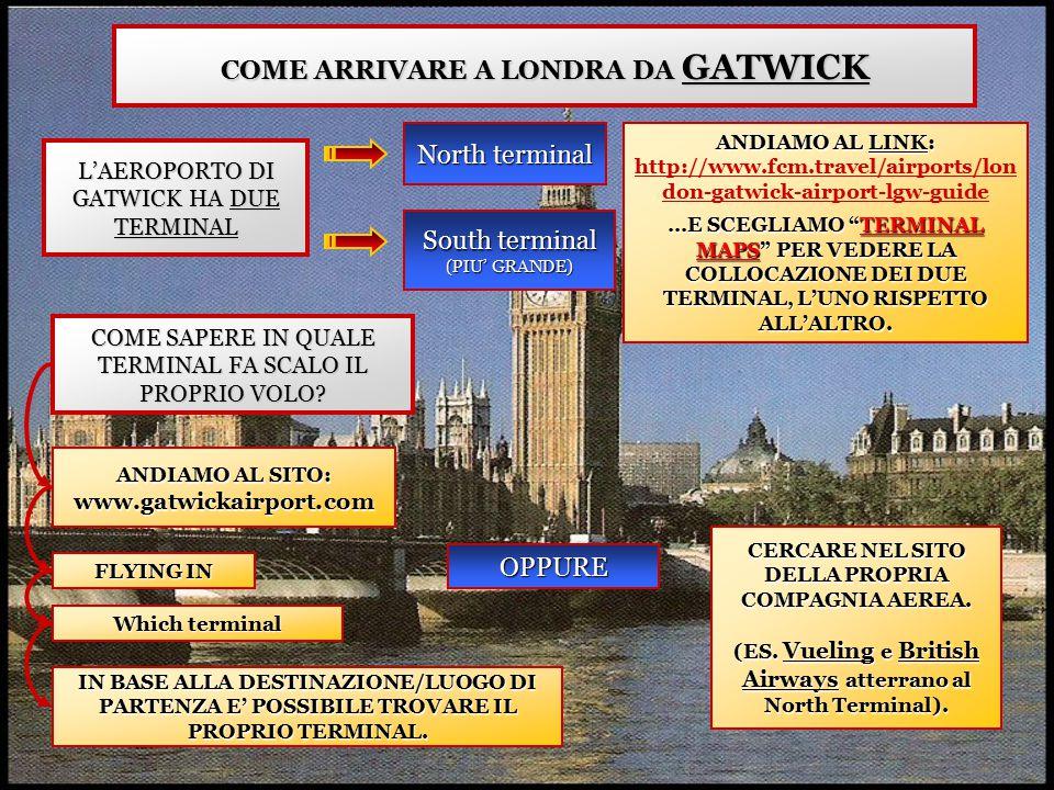COME ARRIVARE A LONDRA DA GATWICK