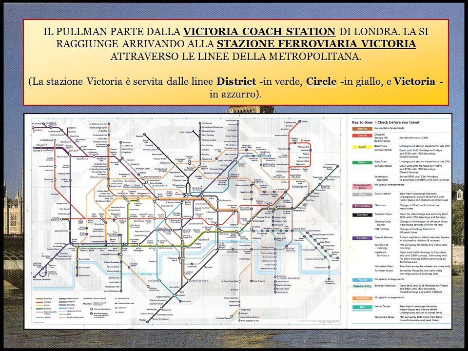 IL PULLMAN PARTE DALLA VICTORIA COACH STATION DI LONDRA