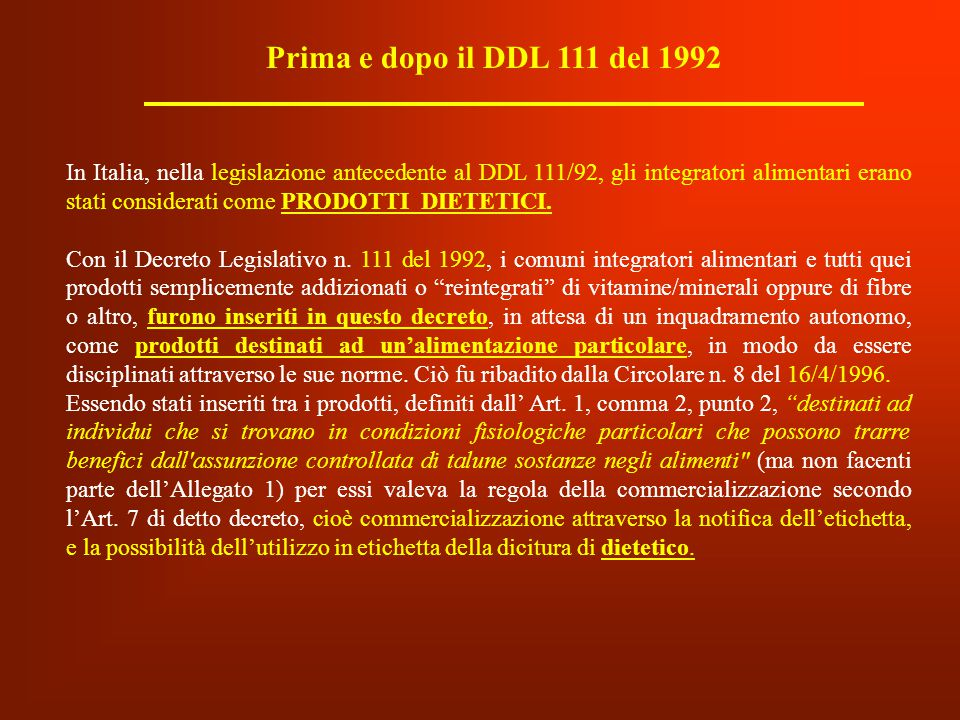 Prima e dopo il DDL 111 del 1992