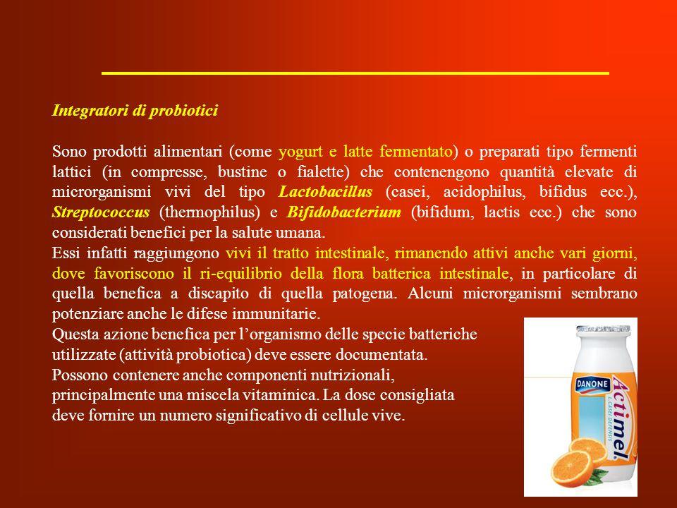 Integratori di probiotici