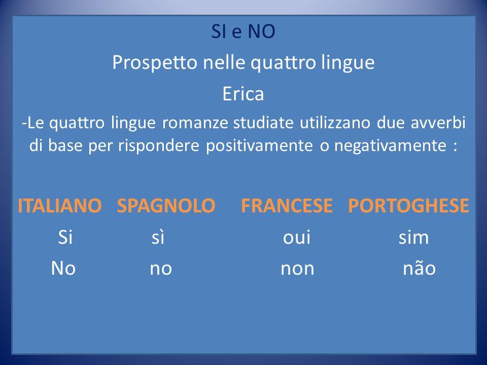 ITALIANO SPAGNOLO FRANCESE PORTOGHESE