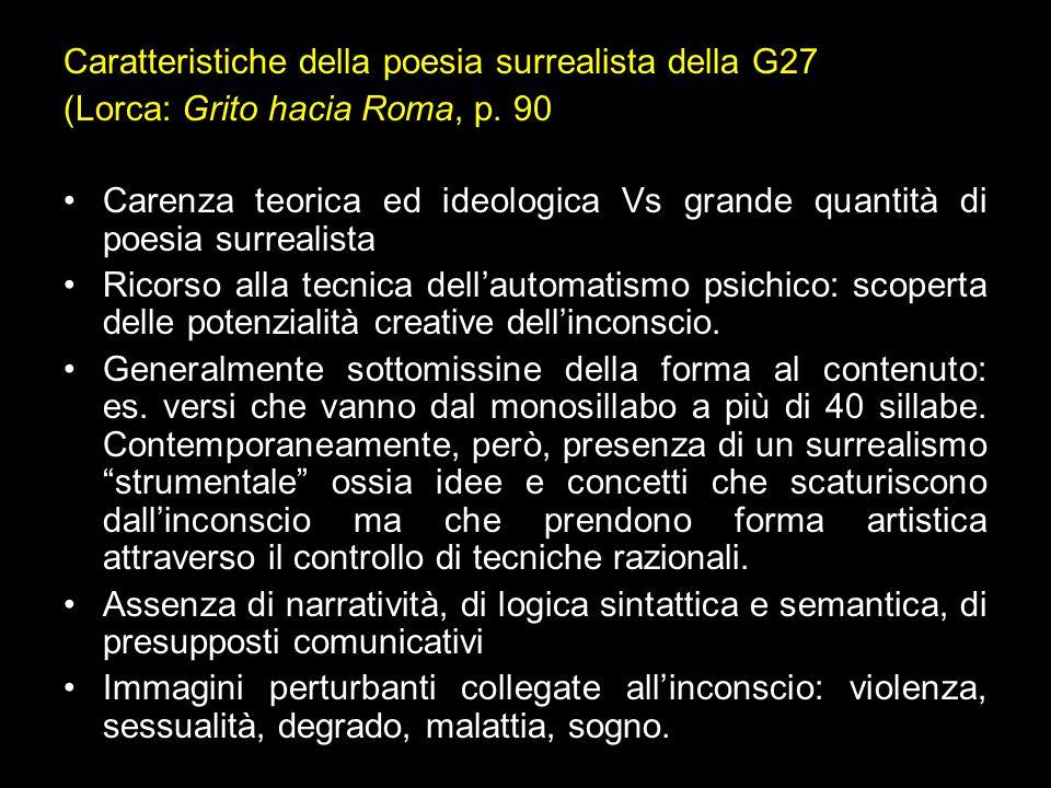 Caratteristiche della poesia surrealista della G27