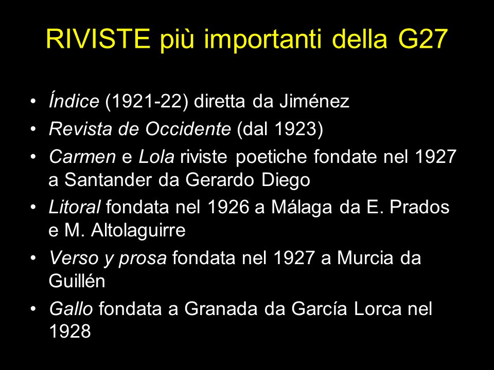 RIVISTE più importanti della G27