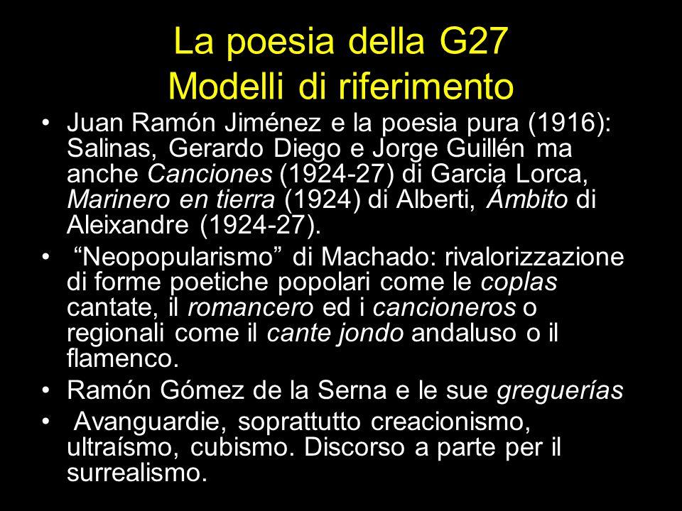 La poesia della G27 Modelli di riferimento