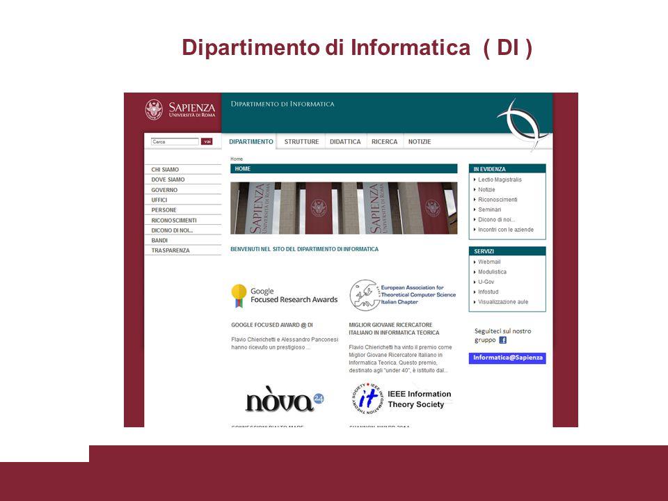 Dipartimento di Informatica ( DI )