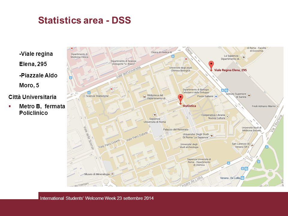 Statistics area - DSS -Viale regina Elena, 295 -Piazzale Aldo Moro, 5