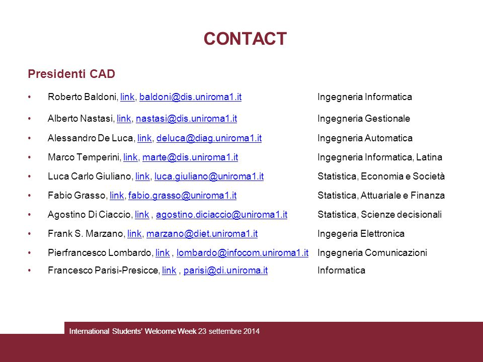 CONTACT Presidenti CAD
