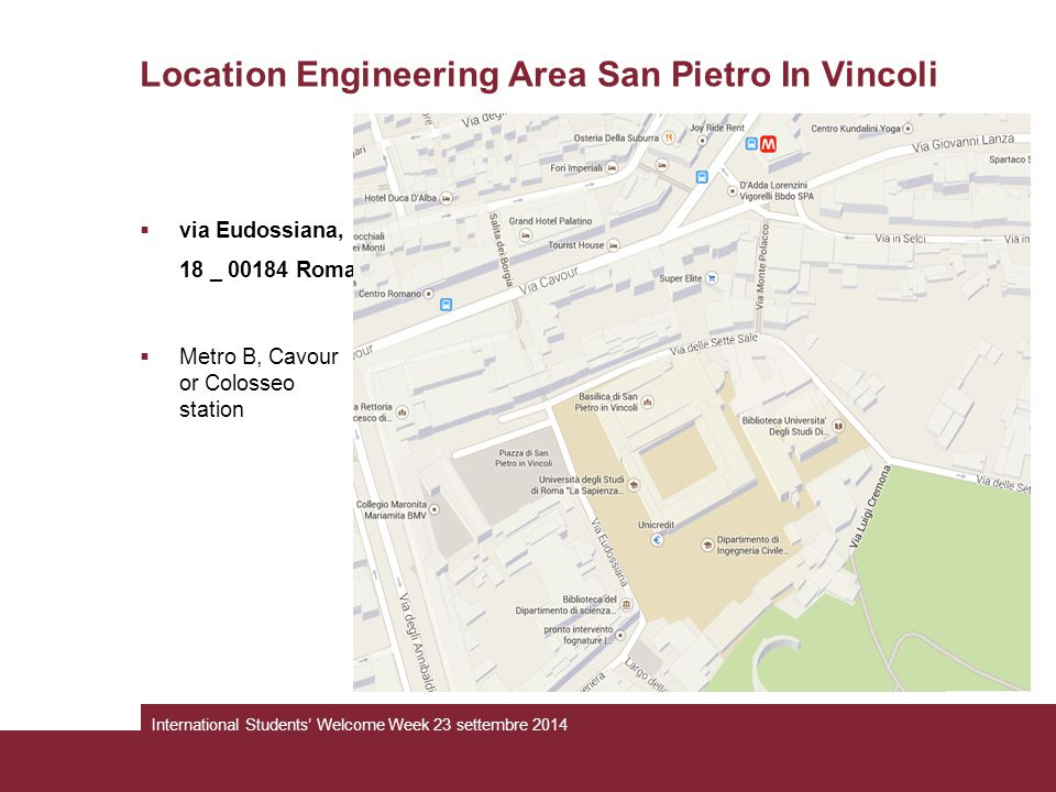 Location Engineering Area San Pietro In Vincoli